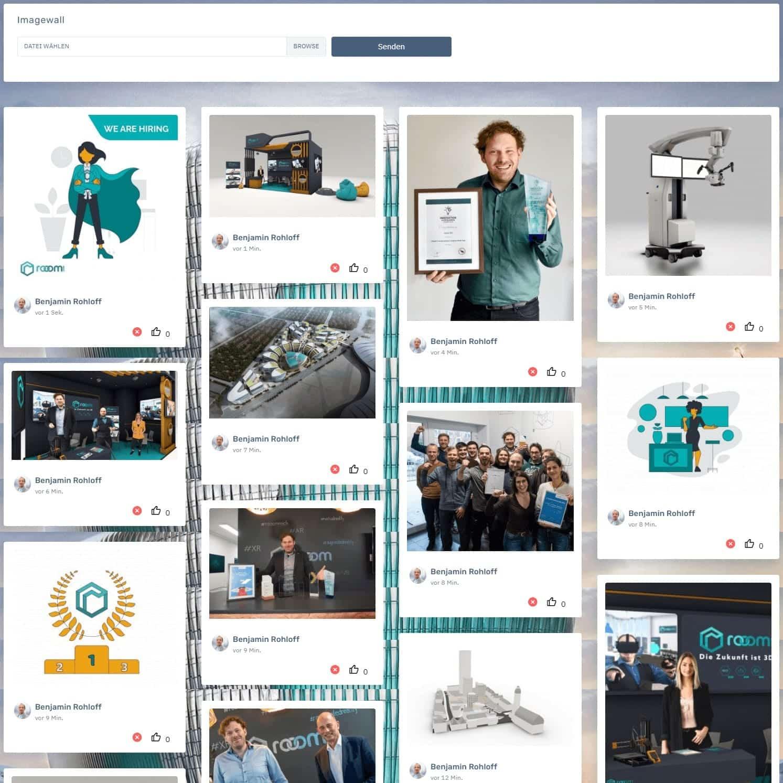 Social Image Wall rooomEXPO-X