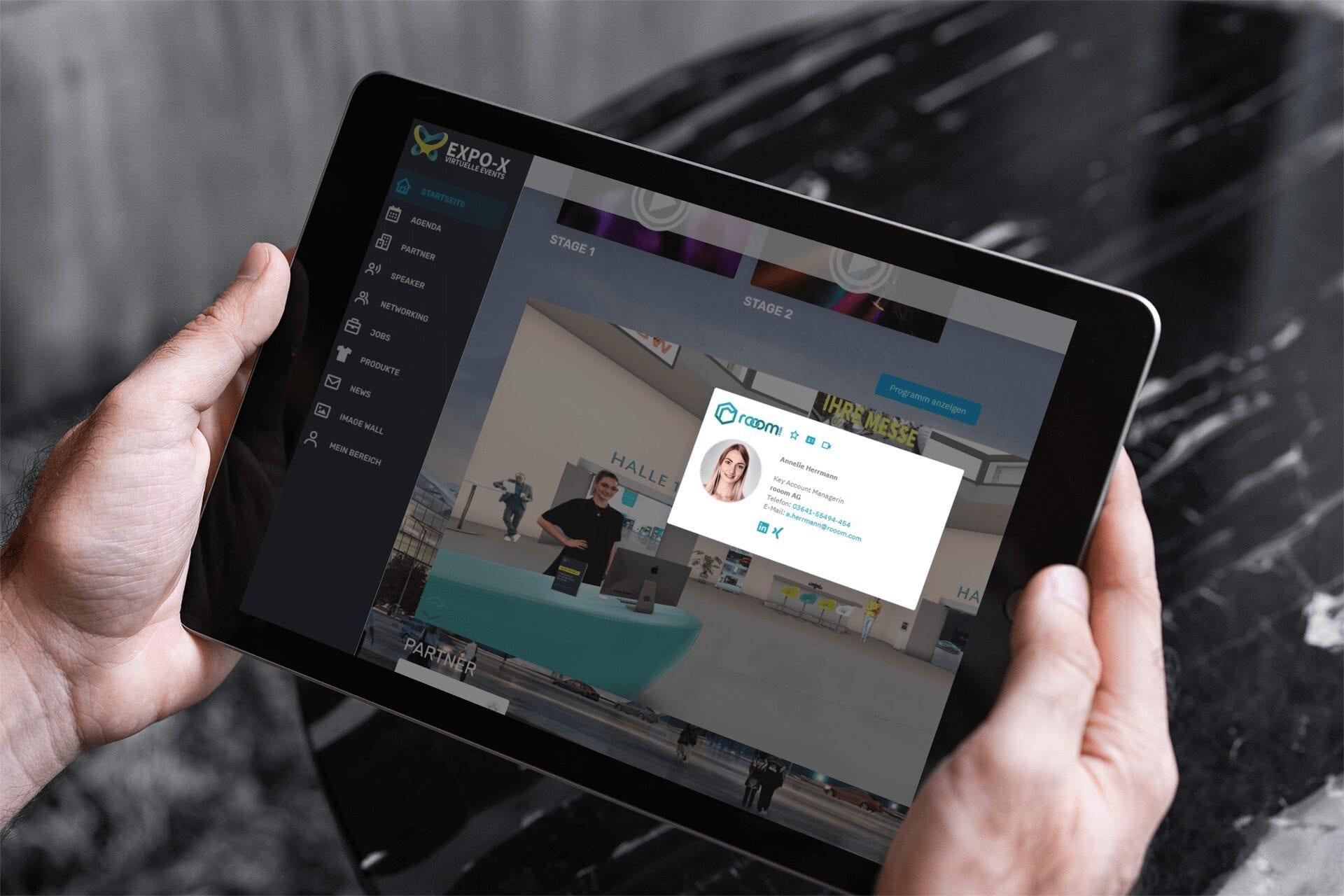Virtuelle Visitenkarte EXPO-X